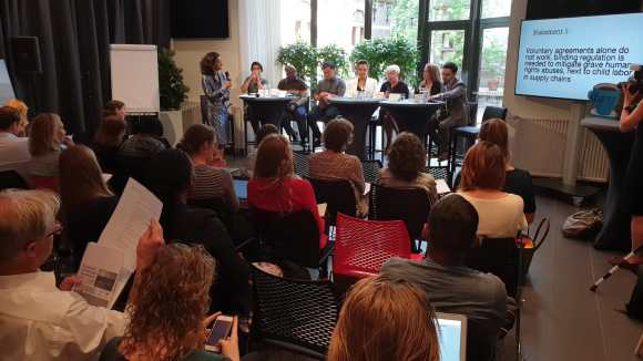 Panel discussion with lobby tour participants and parliamentarians in the Hague